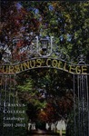 2001-2002 Ursinus College Course Catalogue by Office of the Registrar