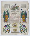 Birth and Baptism Certificate for Anna Maria Schmitt by Johann Ritter & Co.