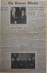 The Ursinus Weekly, October 29, 1951