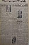 The Ursinus Weekly, October 17, 1949 by Betty Leeming, Fred Nicholls, Jane Hartzel, Betty Lou Scheirer, Willard Wetzel, George E. Saurman, and Ford Bothwell