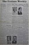 The Ursinus Weekly, December 11, 1944 by Joy Harter, Jane Day, Adele Kuntz, Doris Jean Shenk, and Paul Stauffer