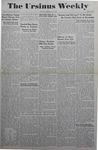 The Ursinus Weekly, September 20, 1943