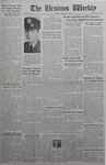The Ursinus Weekly, March 29, 1943 by J. William Ditter Jr., Marion Bright, Jack L. Thomas, and Garfield Sieber Pancoast
