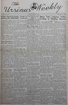 The Ursinus Weekly, January 13, 1941 by Nicholas Barry and Garnet Adams