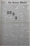 The Ursinus Weekly, March 7, 1938 by Vernon Groff, Stanley Weikel, and David Hartman