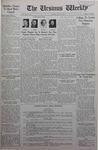 The Ursinus Weekly, May 16, 1938 by Allen Dunn, Morris Yoder, Harold Chern, Mark D. Alspach, William E. Wimer, Nicholas Barry, Calvin D. Yost, and Carlton Davis