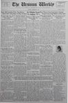 The Ursinus Weekly, November 9, 1936 by Abe E. Lipkin and Harvey L. Carter