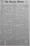 The Ursinus Weekly, November 16, 1936 by Abe E. Lipkin and Franklin Irvin Sheeder Jr.