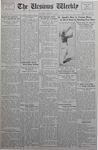 The Ursinus Weekly, October 9, 1933