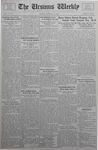 The Ursinus Weekly, October 30, 1933