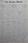 The Ursinus Weekly, March 19, 1934