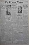 The Ursinus Weekly, May 28, 1934 by Dora G. Evans, Jesse Heiges, and George Leslie Omwake