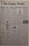 The Ursinus Weekly, January 30, 1933