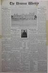 The Ursinus Weekly, September 14, 1931 by Eveline B. Omwake, E. Earle Stibitz, and George Leslie Omwake