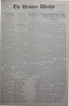 The Ursinus Weekly, September 16, 1929 by Calvin D. Yost, Evelyn Matthews Cook, and George Leslie Omwake