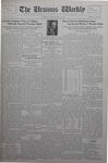 The Ursinus Weekly, September 23, 1929 by Calvin D. Yost, Stanley Omwake, and George Leslie Omwake