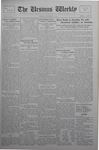 The Ursinus Weekly, October 7, 1929 by Calvin D. Yost and George Leslie Omwake