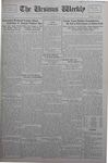 The Ursinus Weekly, November 11, 1929 by Calvin D. Yost, Evelyn Matthews Cook, and George Leslie Omwake