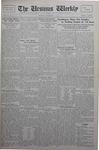 The Ursinus Weekly, November 18, 1929 by Calvin D. Yost, Stanley Omwake, and George Leslie Omwake