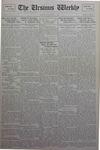 The Ursinus Weekly, January 21, 1929