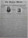 The Ursinus Weekly, February 14, 1927