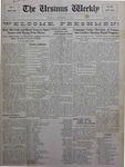 The Ursinus Weekly, September 14, 1925
