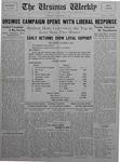 The Ursinus Weekly, November 9, 1925